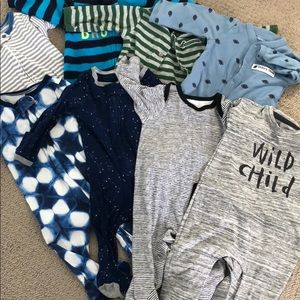 Other - Lot of eight 0-3 month old pajamas
